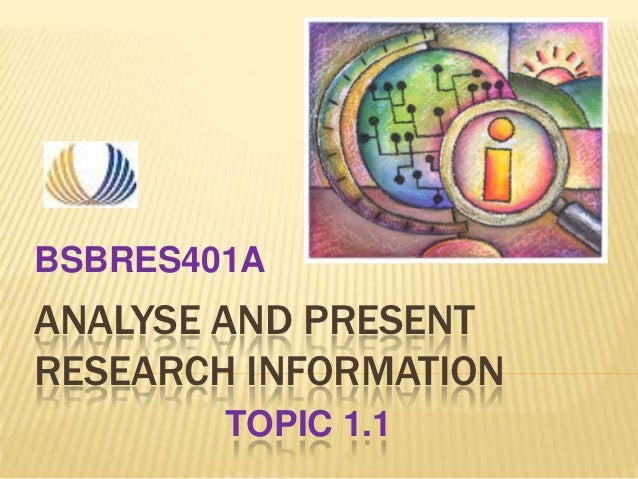 Analyse and present   week 1 - topic 1.1