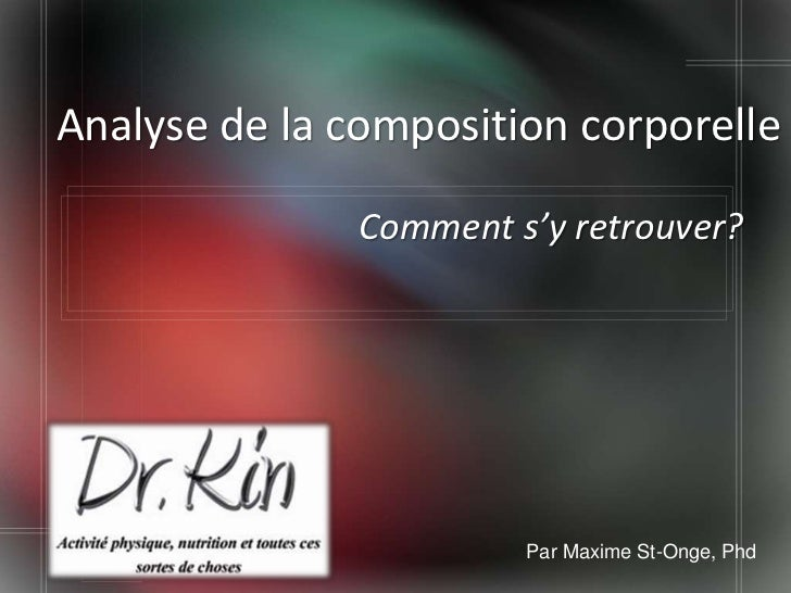 Analyse de la composition corporelle