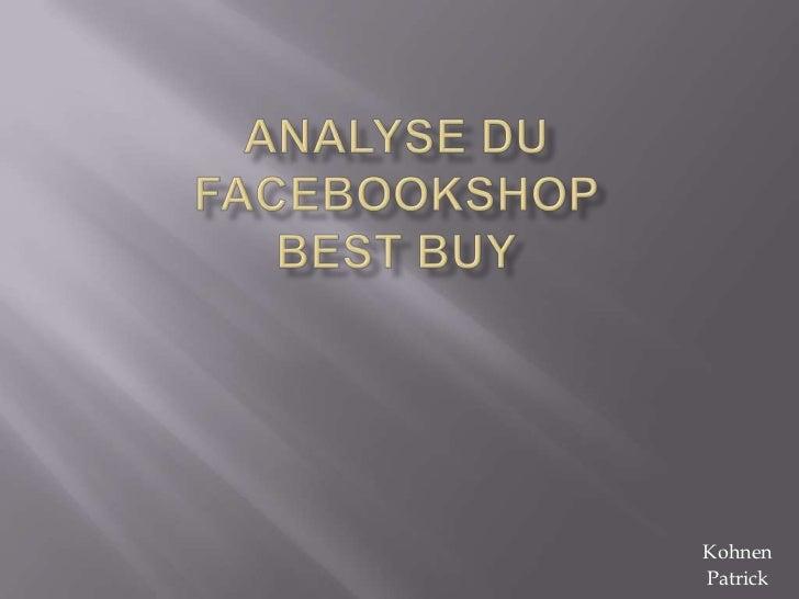 Analyse du facebookshop
