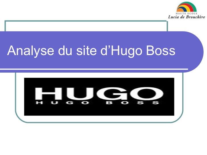 Analyse du site d'hugo boss