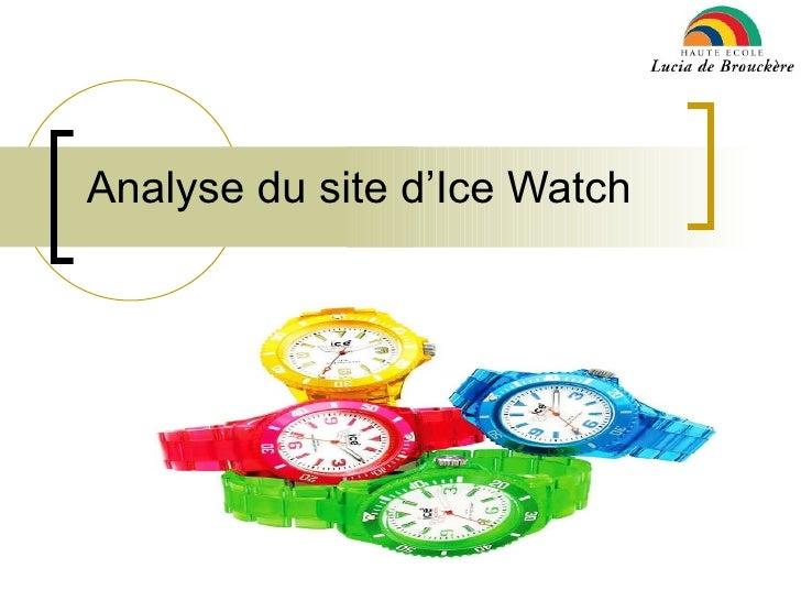 Analyse du site d'Ice Watch