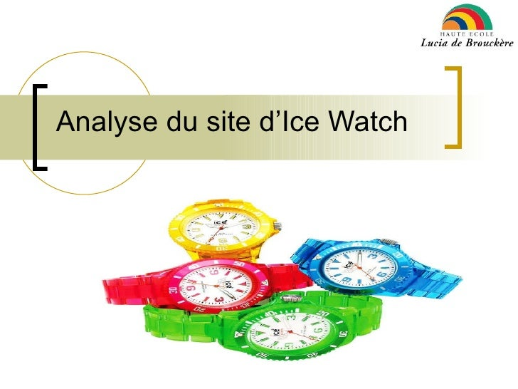 Analyse du site d'e-commerce d'ice watch
