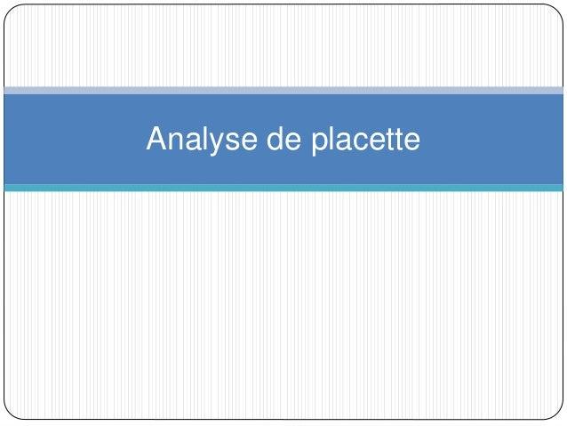 Analyse de placette