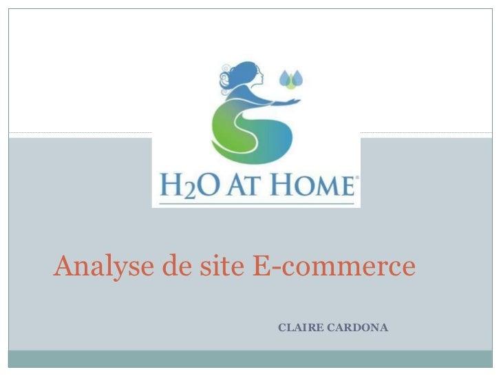 CLAIRE CARDONA Analyse de site E-commerce