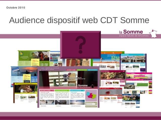 Audience dispositif web CDT Somme Octobre 2010