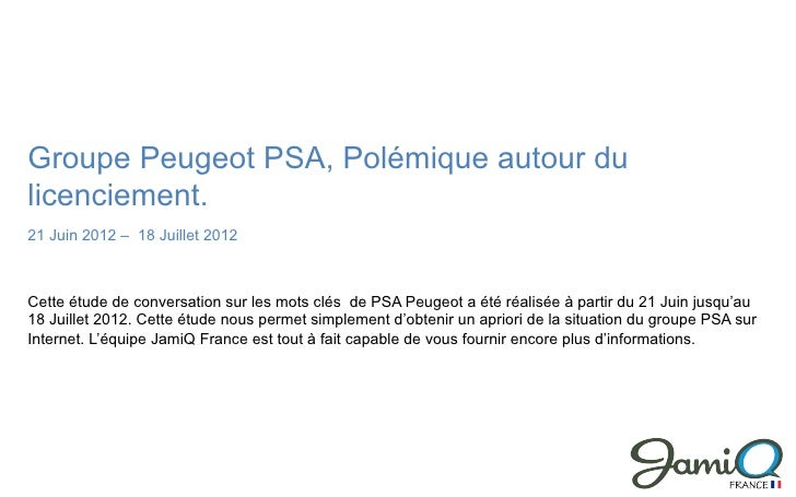 Analyse réputation internet Peugeot PSA