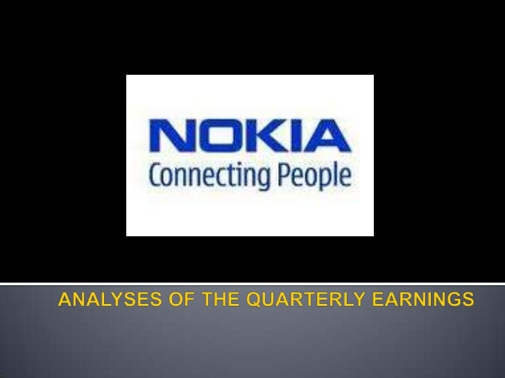    What is Nokia?     Products     Activities   Financial analyses     Quarterly earnings
