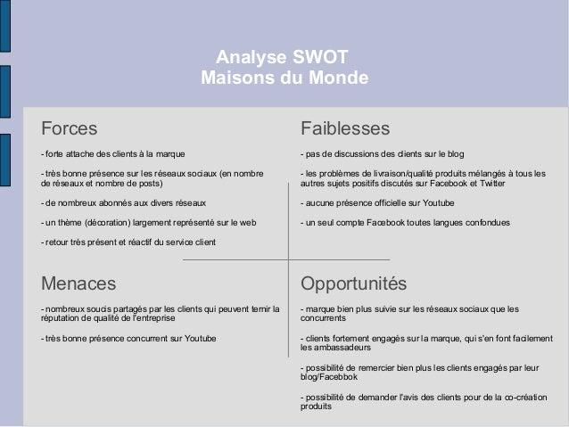 Analyse swot maisons du monde for Maisonsdumonde france