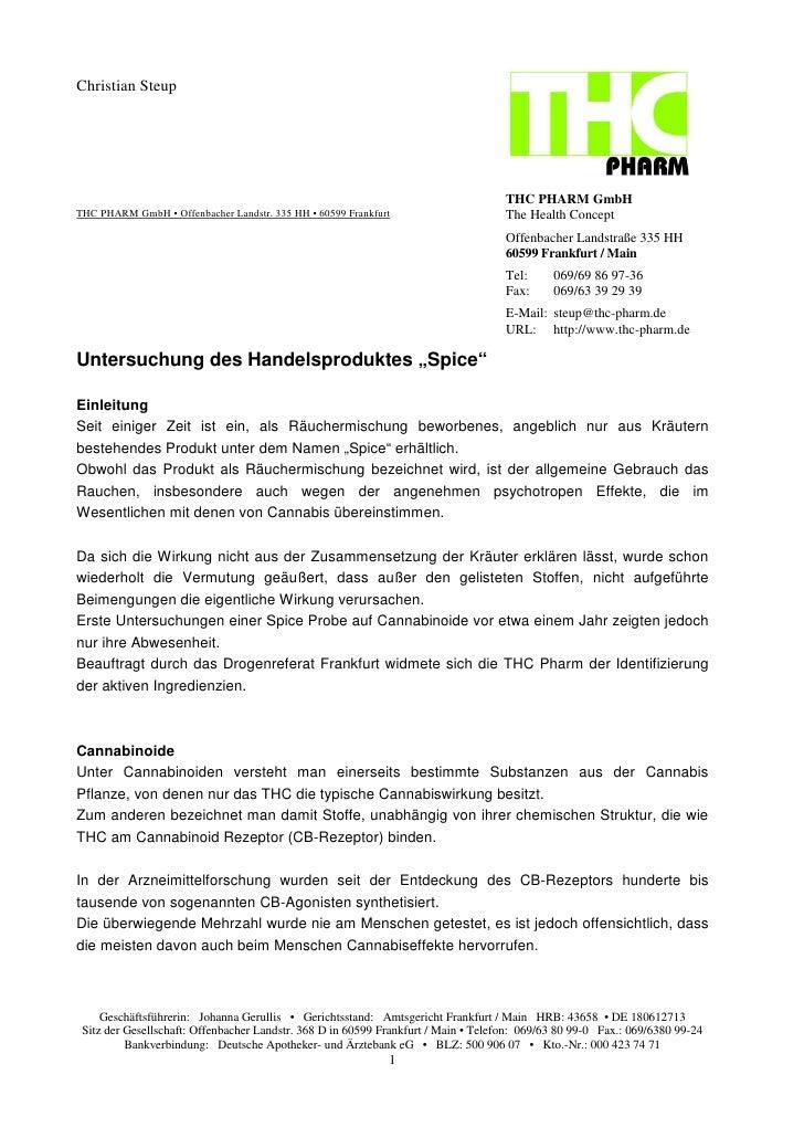 Christian Steup                                                                                         THC PHARM GmbH THC...
