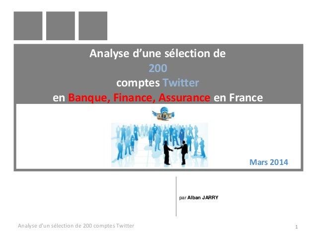 Analyse d'une selection de 200 comptes twitter finance banque assurance asset management bourse economie mutuelle patrimoine