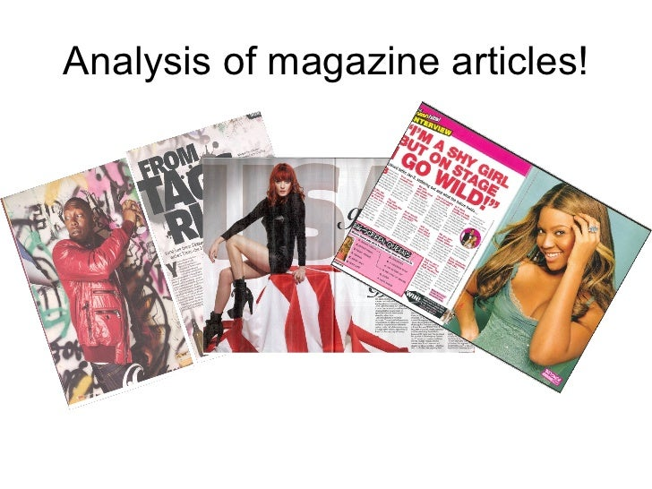 Analysing articles