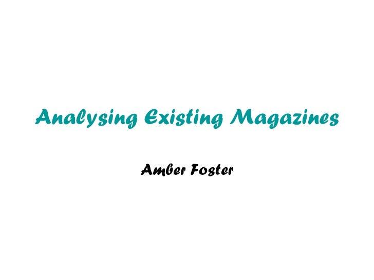 Analysing existing magazines