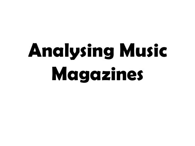 Analysing music magazines edit