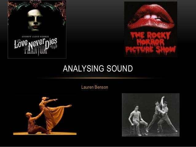 ANALYSING SOUND Lauren Benson