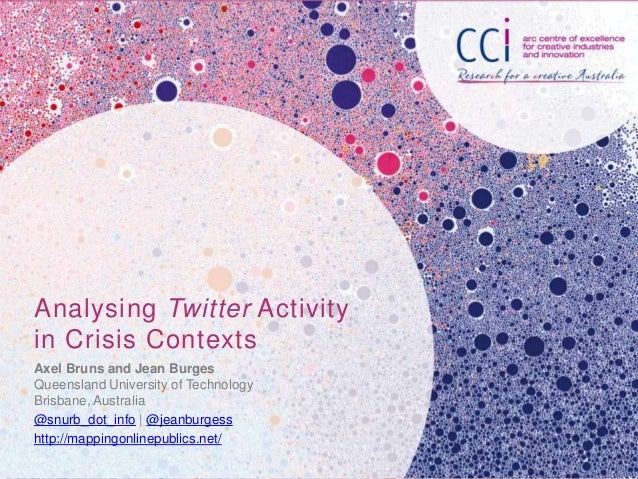 Analysing Twitter Activity in Crisis Contexts