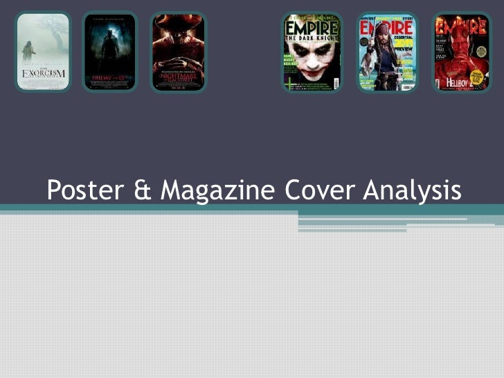 Film Poster & Magazine Cover Analysis