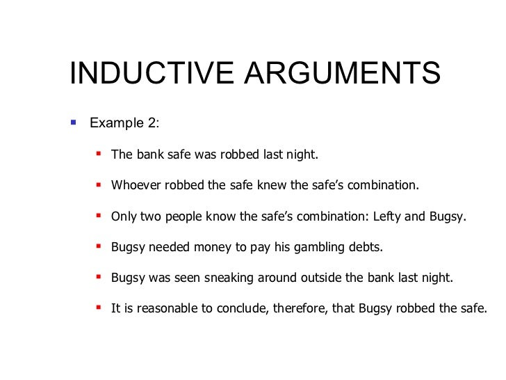 deductive and inductive Tip sheet deductive, inductive, and abductive reasoning reasoning is the process of using existing knowledge to draw conclusions, make predictions, or.