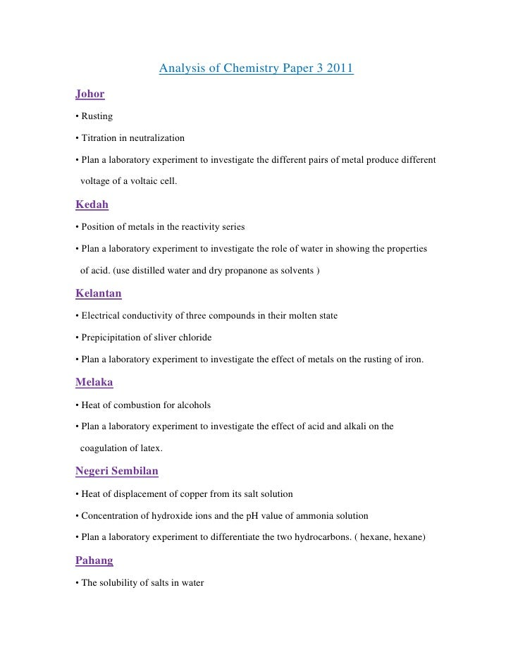 Analysis of-spm-chemistry-paper-3-2011
