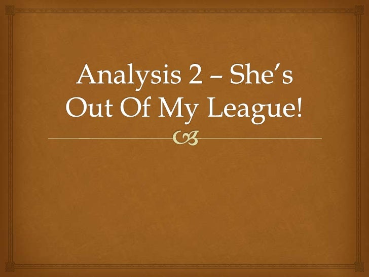 Analysis 2: She's Out Of My League Trailer