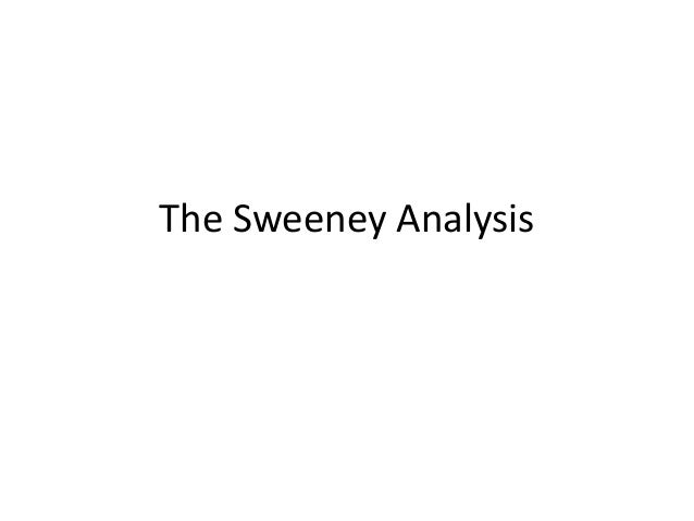 Analysis 3  The Sweeny