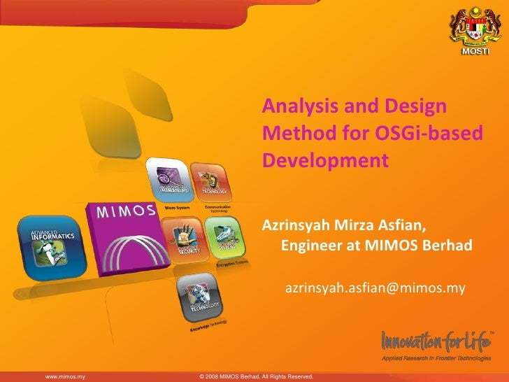 Analysis and Design                                      Method for OSGi-based                                      Develo...