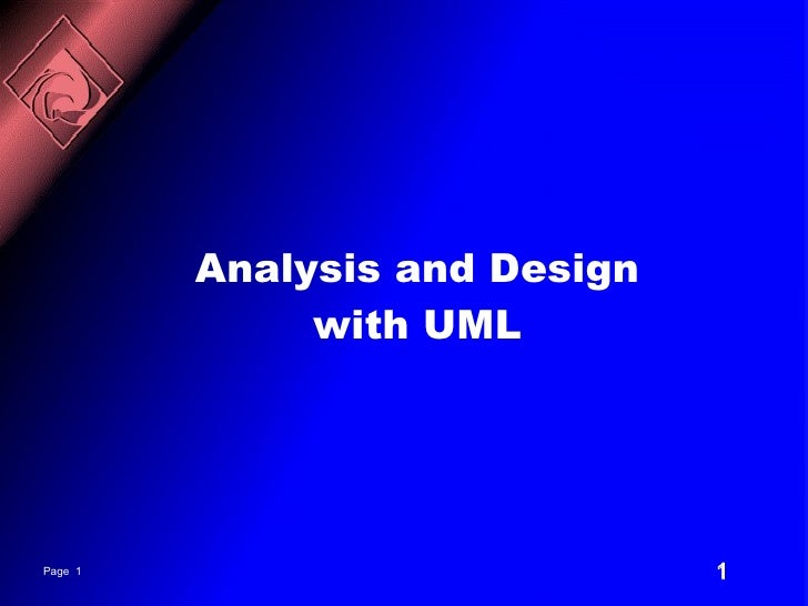 Analysis and design of entreprise with uml