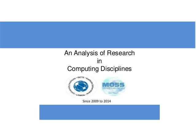 Analysis computerscience disciplines