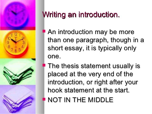 Writing the Essay Intro and Conclusion - Tripodcom
