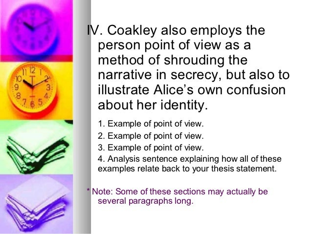 point of view essay examples