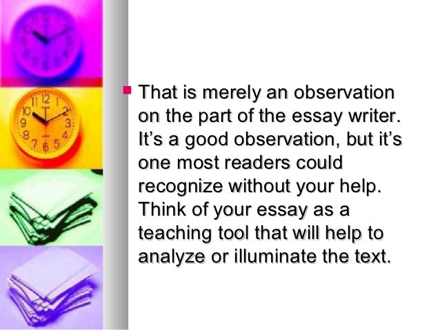 observation and analysis essay Essays observation and child analysis observation has constantly provided a fuller, richer picture of each and every young learner inside the classroom.