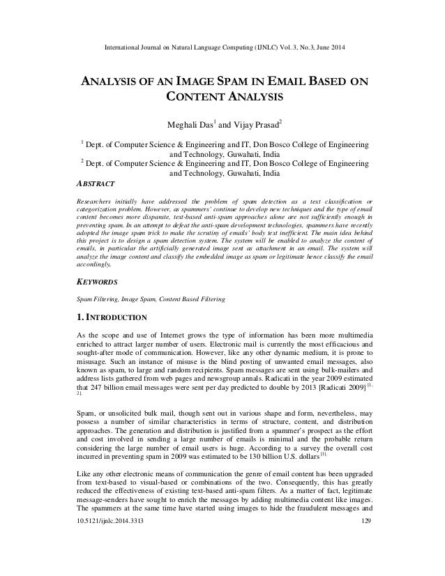 International Journal on Natural Language Computing (IJNLC) Vol. 3, No.3, June 2014 10.5121/ijnlc.2014.3313 129 ANALYSIS O...