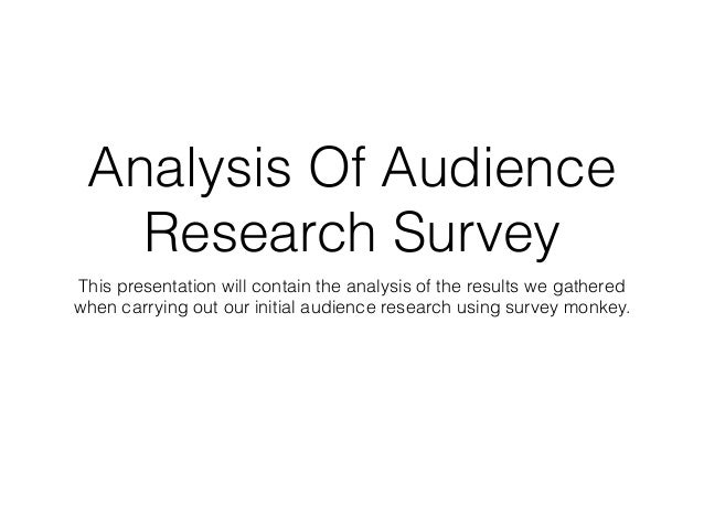 audience analysis paper 24