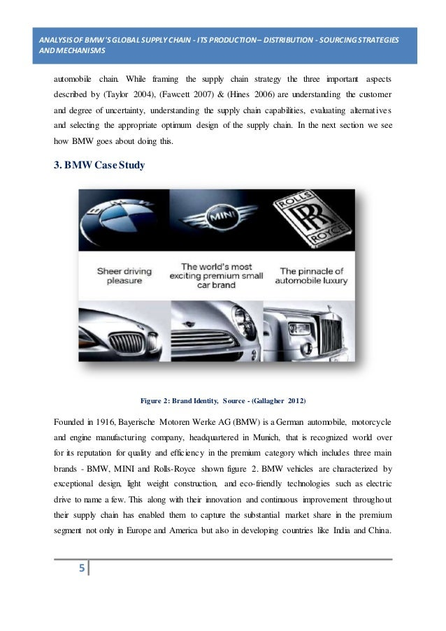 bmw brand analysis Brand equity in the marketing strategy of bmw bmw's success lies in its strong sense of identity which is tied to the experience of driving the machine bmw is considered as one of the leading producers of luxury & state of the art vehicles.