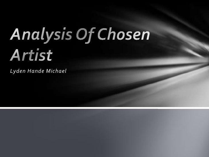 Analysis of chosen artist