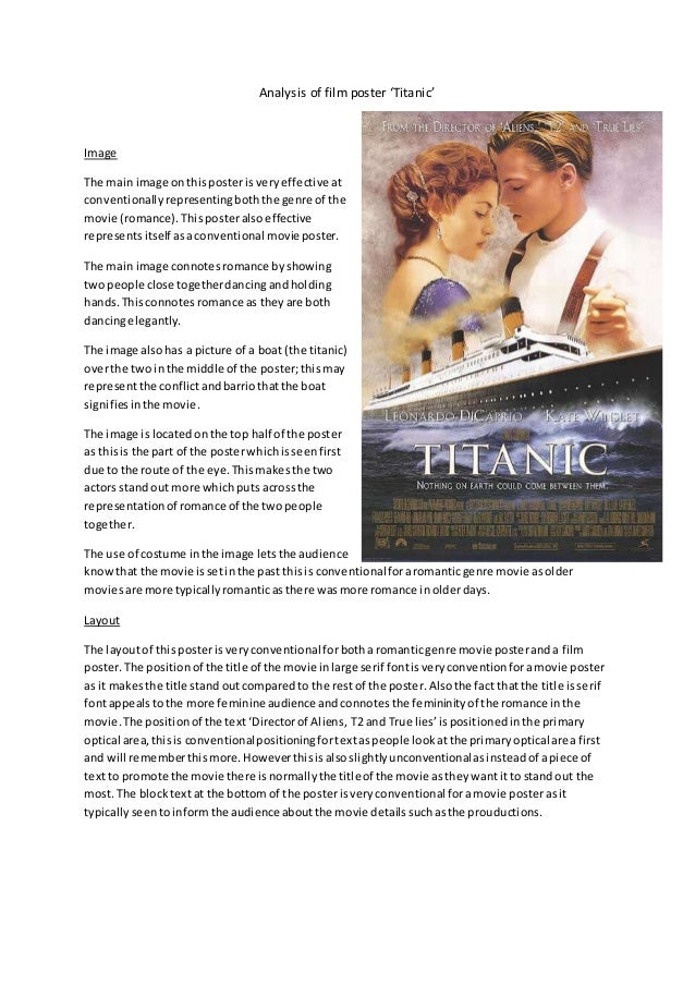 titanic movie essay titanic movie