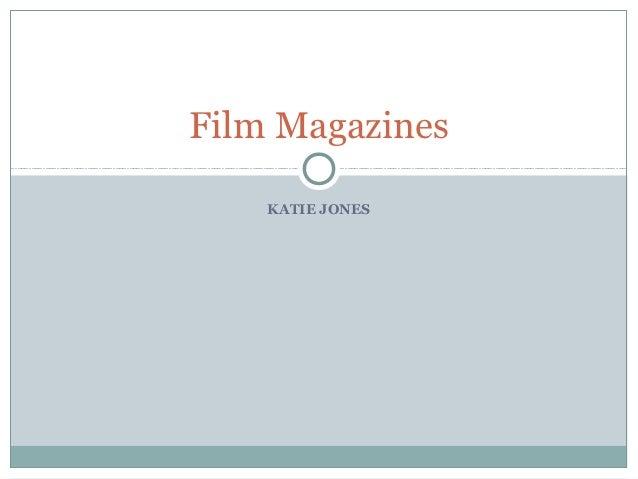 Film Magazines    KATIE JONES