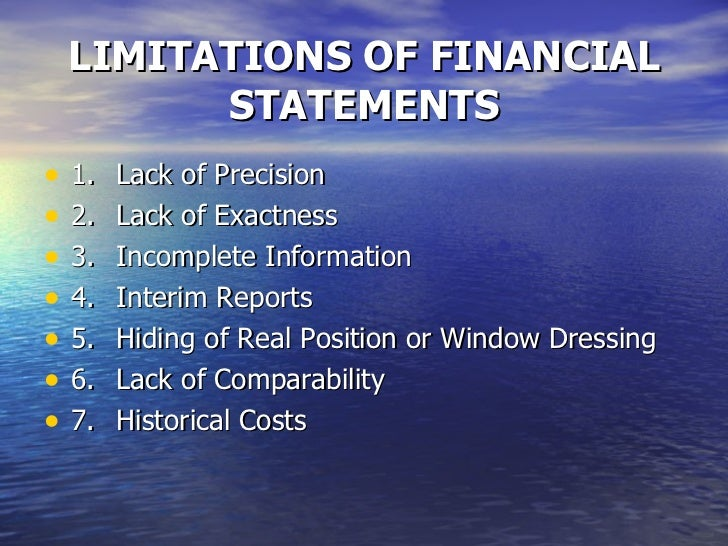 Why would finance be a limitation?