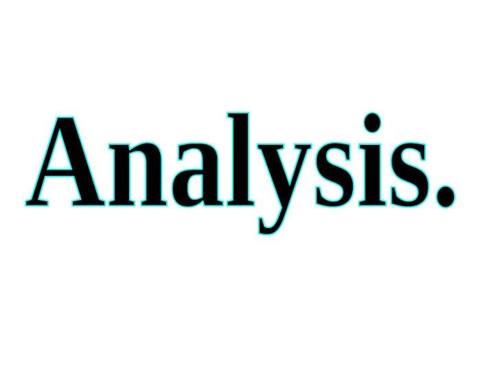 Analysis of Magazines.