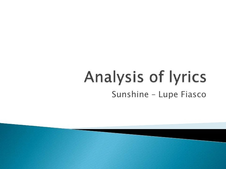 "an analysis of lupes song Lady gaga's family history and testing for lupus by dr mark boguski on may 26, 2010  who inspired the beatles' song ""lucy in the sky with diamonds,"" died."