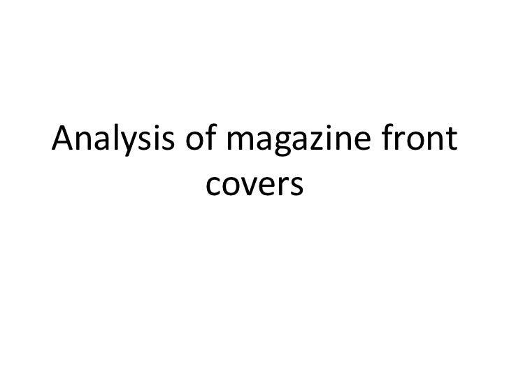 Analysis of magazine front covers<br />
