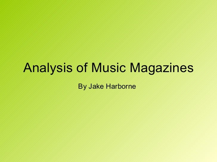 Analysis of music magazines, cover, contents and double page spread