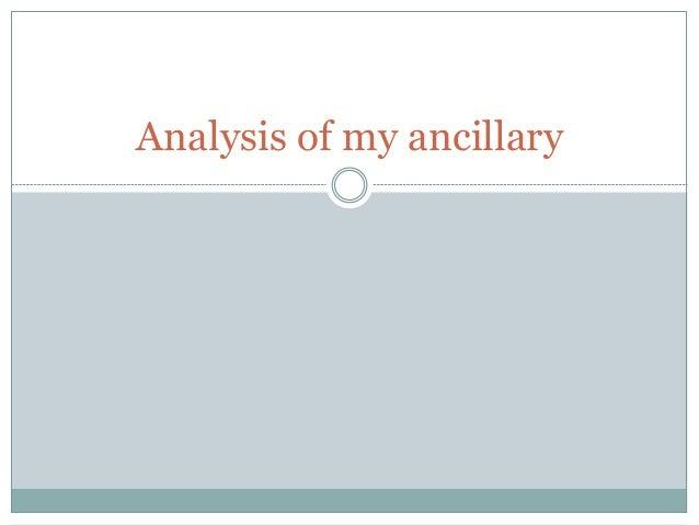 Analysis of my ancillary