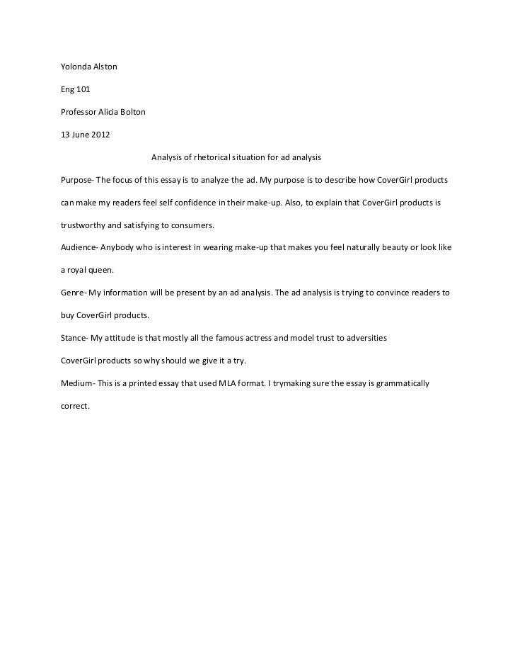 example rhetorical analysis essay