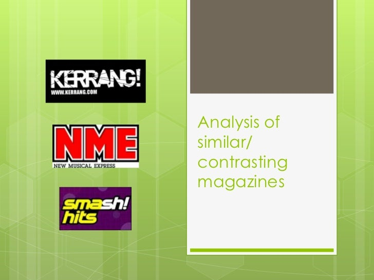 Analysis of similar or contrasting magazines