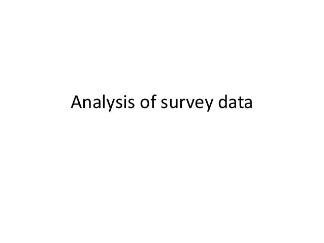 Analysis of survey data
