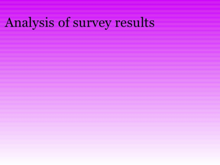 Analysis of survey results