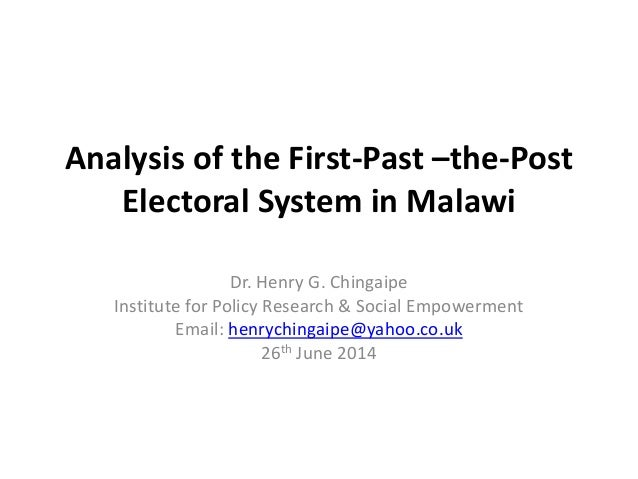 first past the post system essay Below is an essay on proportional representation vs first past the post from anti essays, your source for research papers, essays, and term paper examples introduction in trinidad and tobago the first past the post system is followed at election.