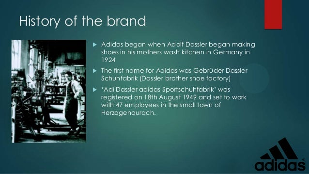 adidas history and background