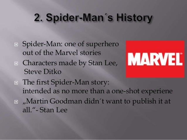 analysis of spider man essay Spider-man is a fictional superhero in the marvel comics universe he is a  character created by writer stan the man lee and artist steve ditko he first.