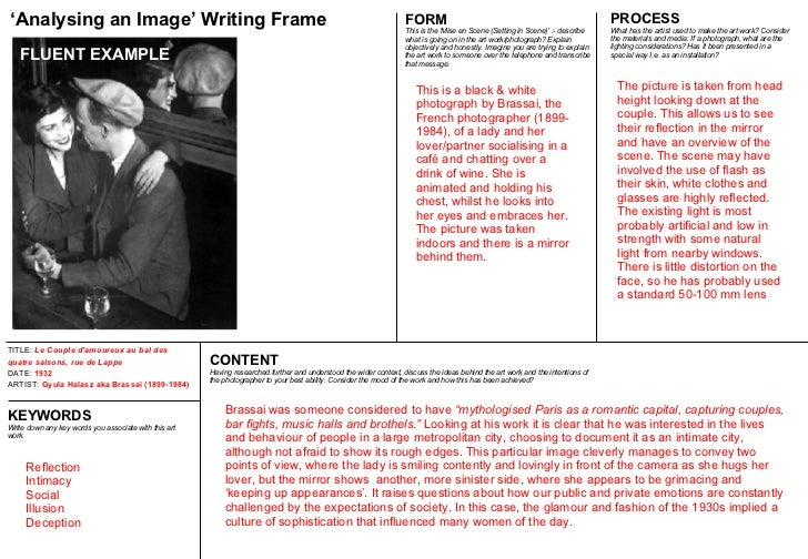 analyzing a photo essay